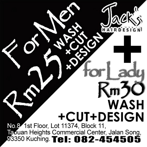 Jack hairdesign newspaper adv 6m x 6 cm2