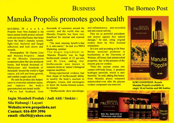 Propolis The Borneo Post 2011jpg