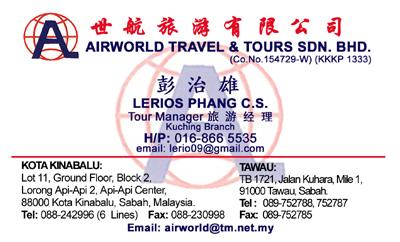 Airworld Travel And Tours Sabah