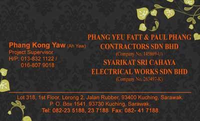Phang Yeu Fatt & Paul Phang Contractors Sdn. Bhd.