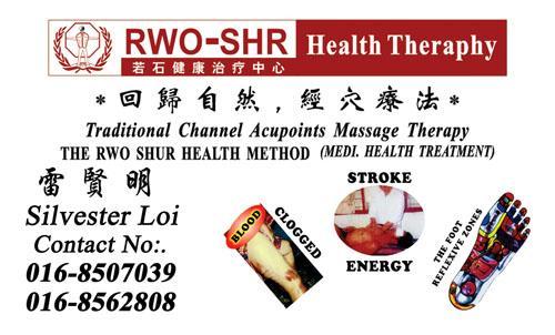 RWO-SHR Health Therapy - SILVESTER LOI